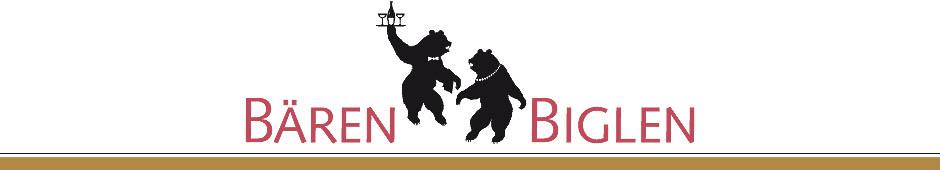 Logo: Bären Biglen AG - Hotel und Restaurant